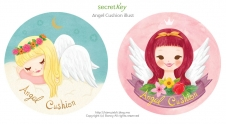 Secretkey angel cushion package illust