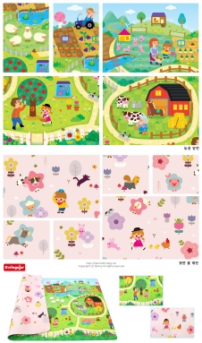 Baby Play Mat-Farm