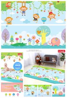 Baby Play Mat-monkey